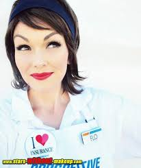 flo from progressive without makeup photo 2