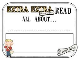 Extra Extra Newspaper Template Biography Template Extra Extra Read All About It