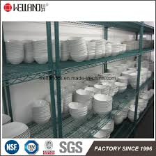 Powder Coating Racks Suppliers China Epoxy Coated Green Steel Restaurant Industrial Dish Drying 6
