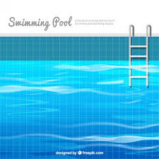 swimming pool vector. Swimming Pool Background In Flat Design Vector C