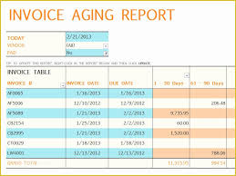 Accounts Receivable Templates Excel Free Accounts Receivable Template Of Invoice Aging Report