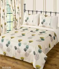 teal cream colour bedding duvet cover set stylish poppy fl modern design