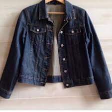 J Crew Denim Size Chart J Crew Women S Denim Jacket Dark Wash Xs