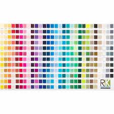 Kona Cotton Solids Color Chart Panel Robert Kaufman