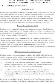 Sec 1010 230 Beneficial Ownership Requirements For Legal Entity