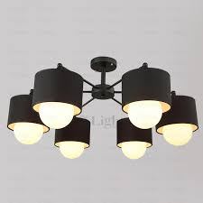 wonderful modern black ceiling light modern 6 light fabric shade black ceiling light fixtures