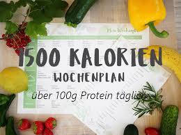 Diät mit 1500 kalorien am tag