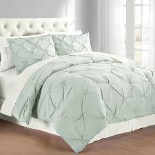 Amazon.com: Swift Home 3-Piece Pintuck Full/Queen Comforter Set, Misty Blue:  Home & Kitchen