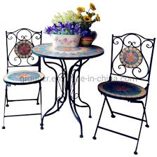moroccan garden set mosaic table 4 chairs wrought iron outdoor quality handmade for all with love product detail it s a ravishing