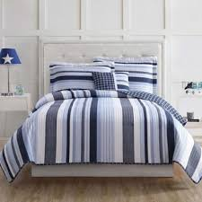 Buy Blue and White Striped Quilt from Bed Bath & Beyond & Laura Hart Kids Mason Stripe Twin Quilt Set in Blue/White Adamdwight.com