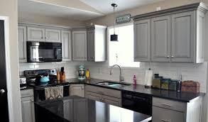 light grey cabinet and best black appliances using white backsplash for cool kitchen ideas