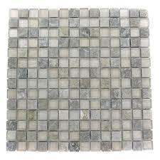 splashback tile tectonic squares green quartz slate and white 12 in x 12 in