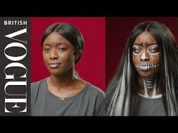 Easy <b>Halloween</b> Make-Up: <b>Gothic Skull</b>   British Vogue - YouTube