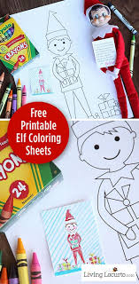 There are creative and silly placements and activities for every day until christmas, from set up your elf with some crayons and a coloring page, then the kids can finish the drawing! Elf Free Printable Coloring Sheets Cute Elf Ideas Living Locurto