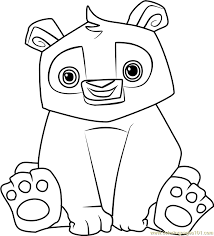Animal Jam Coloring Pages Snow Leopard Color Bros