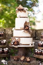 Woodland Themed Wedding Cake Wedding Cake Rustic Themed Wedding