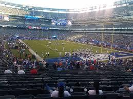 Giants Metlife Seating Chart Metlife Stadium Section 104 Giants Jets Rateyourseats Com