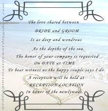 Unique Wedding Invitation Wording And Sample Of Wedding Invitation