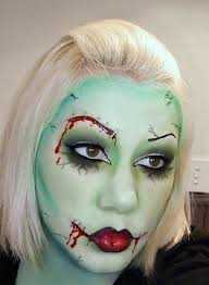 zombie face makeup idea
