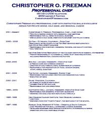 Resume For Chefs Examples Examples Of Resumes