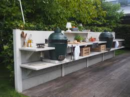 WWOO outdoor kitchen light grey with Big Green Egg medium and the Big Green  Egg large