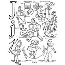 Nice alphabet coloring pages with big drawings and letters. Top 10 Free Printable Letter J Coloring Pages Online