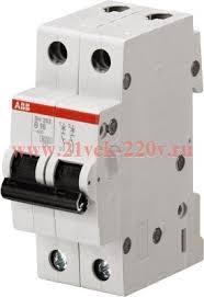 <b>Автоматический выключатель ABB</b> 2-полюсный <b>SH202L</b> C63 ...