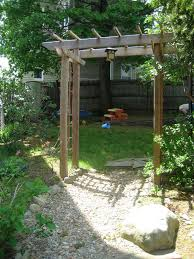 picture of build a wooden garden arbor