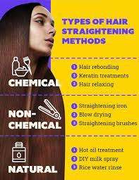 types of hair straightening methods and