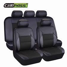 <b>Car pass</b> Car Seat Covers <b>Set</b> Jacquard cloth 75G black mesh ...