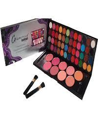 glamorous face eye shadow palette blush on make up kit