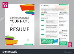 vector mini st cv resume template graphic stock vector vector mini st cv resume template for graphic designer title front page cv