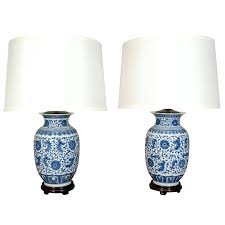 ginger jar lamps pair of blue and white porcelain ginger jar lamps chinese ginger jar lamps ginger jar lamps