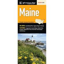 Maine State Map Fold Map