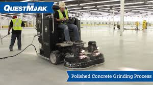 polished concrete grinding process concrete floor grinder diamondquest questmark centimark channel for roofing and flooring videos