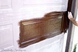 painting on the gel stain to our faded garage door fiberglass kit light oak exterior doors gel stain fiberglass door