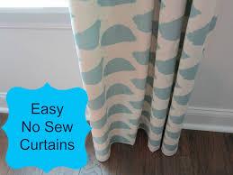Diy No Sew Curtains No Sew Curtains