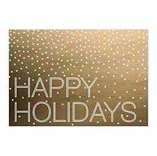 Buisness Greeting Cards Amazon Com Hallmark Business Holiday Card For Customers A Golden