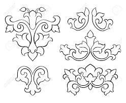 Medieval Design Patterns Set Of Classic Design Elements Simple Vector Pattern Of Black