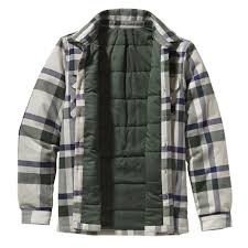 Wholesale Flannel Jackets - Flannel Hooded Jackets for Men & Women & Blue Grey Flannel Jacket Adamdwight.com