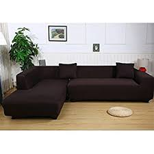 l shaped sofa. Premium Quality Sofa Covers For L Shape, 2pcs Polyester Fabric Stretch Slipcovers + Pillow Shaped R