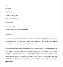 referal letters thank you for letter of recommendation revolutionary sample 9 your