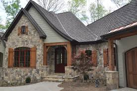 exterior paint color combinations with stone. green color with stone and wood for house exterior paint combinations