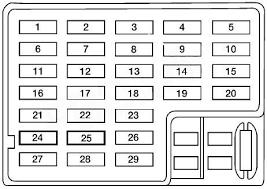 nissan altima (1998 2001) fuse box 1998 Saturn Sl1 Fuse Box Diagram Windshield Wiper Alignment