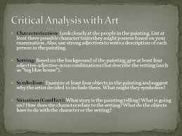 what is your personal legend how would you go about pursuing it  53 critical analysis art