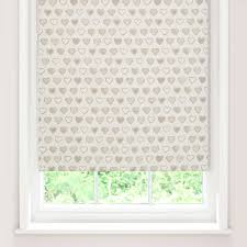 Patterned Blinds For Kitchen Country Hearts Blackout Roller Blind Dunelm Best Blackout