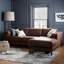 leather sofa with chaise. Contemporary Leather On Leather Sofa With Chaise