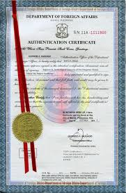 Dfa Authentication Or Red Ribbon Authorization Letter To Get