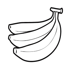 Small Picture Banana Fruit Coloring Page For Kids Fruits Coloring Pages