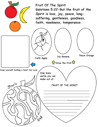 Fruits Of The Spirit Coloring Page Coloring Pages